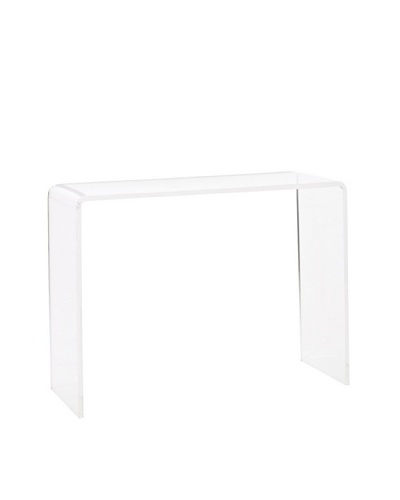Foxhill Trading Pure Décor Acrylic Console Table, Clear