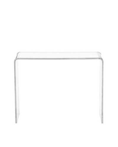 Foxhill Trading Pure Décor Acrylic Accent Table, Clear