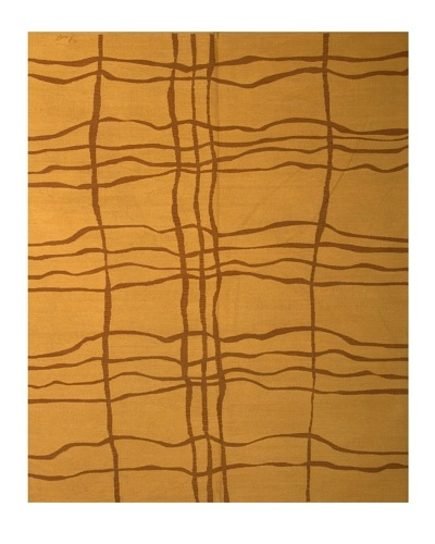 French Accents Modern Flatweave Killim Rug [Mustard]