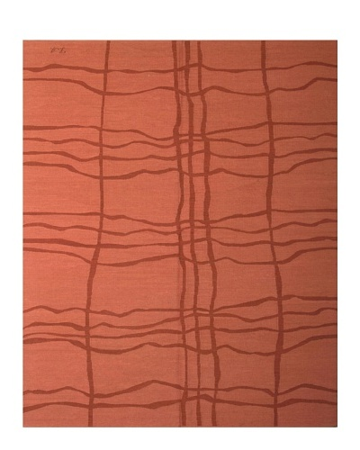 French Accents Modern Flatweave Killim Rug [Brick]