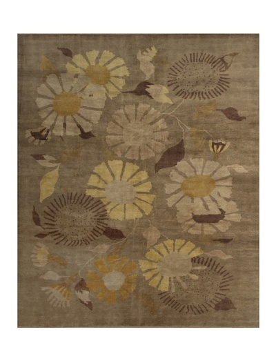 French Accents Modern Carpet [Tan/Gold Multi]