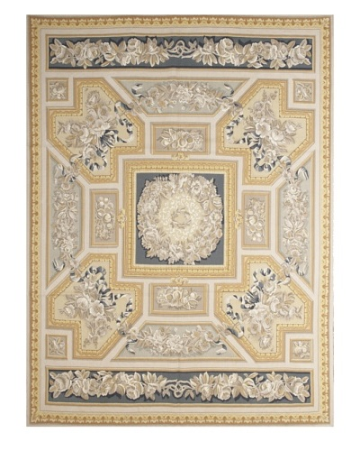French Accents Empire Aubusson [Blue/Gold Multi]
