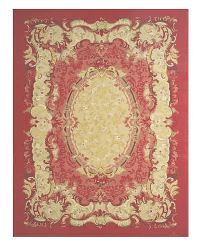 French Accents Severine Aubusson [Red/Gold Multi]