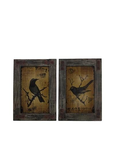 Set of 2 Birds, Black