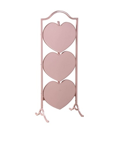 French Heritage Small Heart Fold Table, Pink