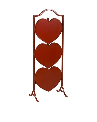 French Heritage Small Heart Fold Table, Red