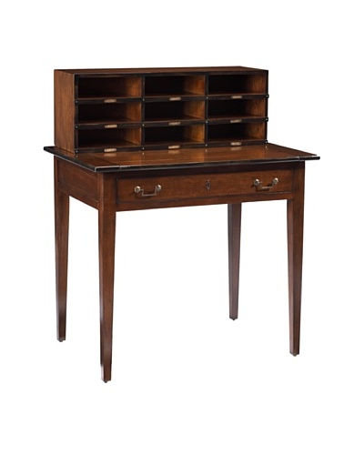 French Heritage Felix Desk With Pull Out, Antique Cherry
