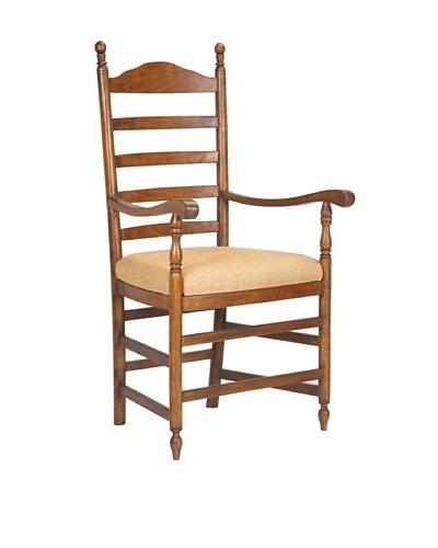 French Heritage Pyrenees Ladderback Arm Chair, Medium Brown