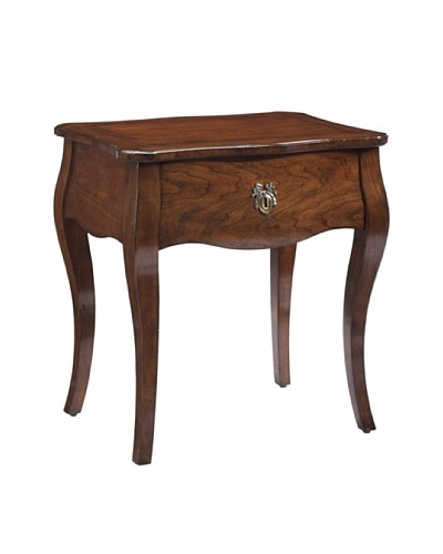 French Heritage Passy Rectangular End Table, Antique Cherry