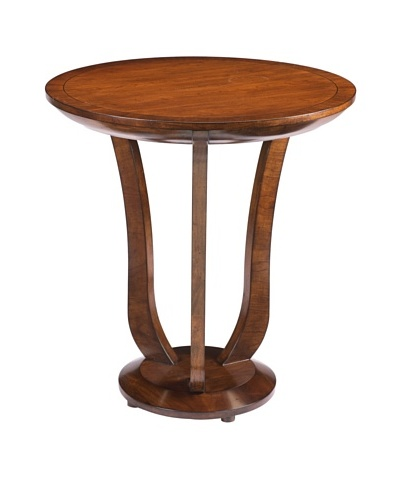 French Heritage Trocadero Round End Table, Antique Cherry