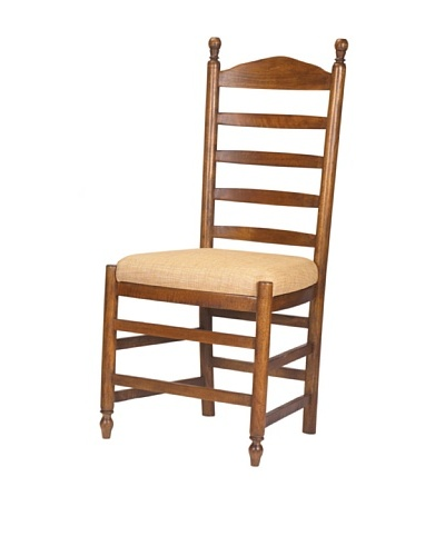 French Heritage Pyrenees Ladderback Side Chair, Medium Brown