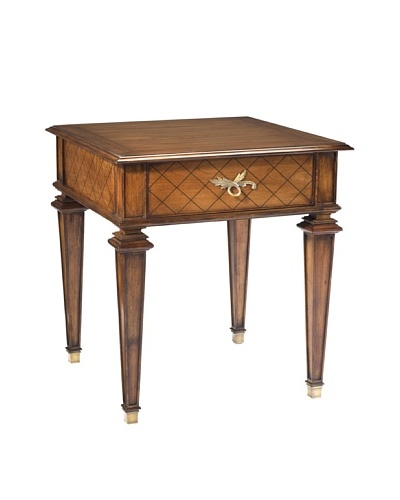 French Heritage Elysee Matignon Square End Table, Antique Cherry
