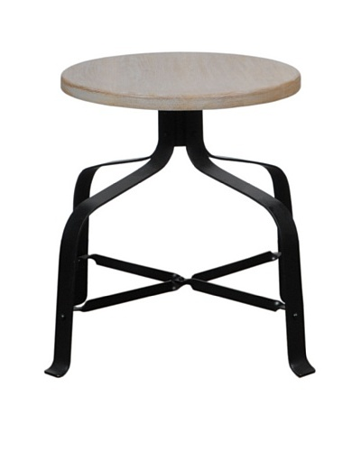 French Heritage Renard Dining Stool Without Back, Oak/Black