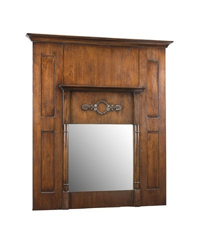 French Heritage Beaulieu Trumeau Mirror, Paris Teak Dark
