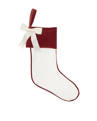 French Laundry Chateau Blanc Lace-Pattern Stocking, White