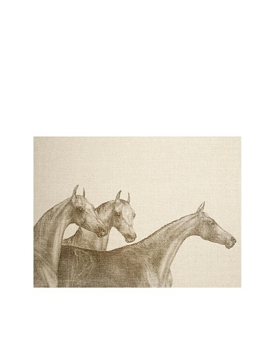 French Linen Collection Trio of Horses Tapestry
