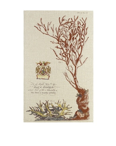 French Linen Collection Vintage Coral Tapestry
