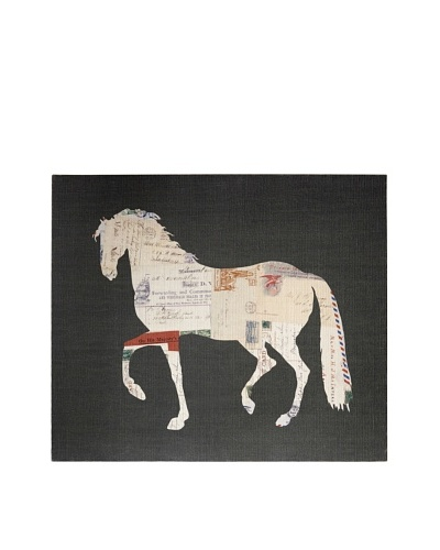 French Linen Collection Horse & Postcards Tapestry