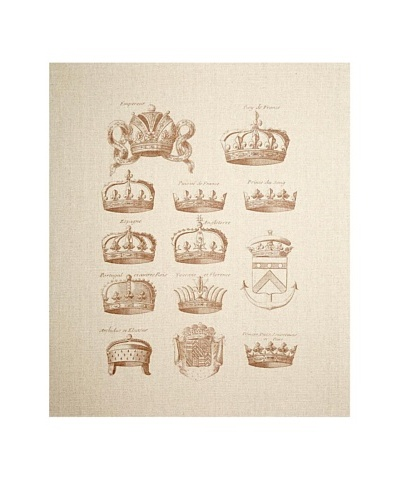 French Linen Collection Antique Crowns Tapestry