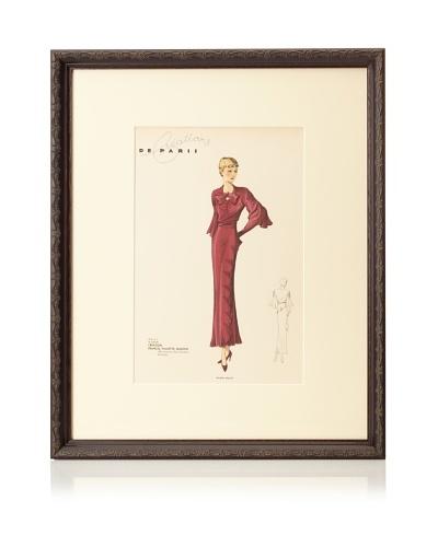 Creations de Paris Fashion Plate, 21.5 x 17.5