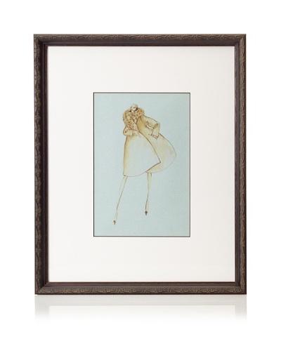 Valentino Fashion Illustration, 21.5 x 17.5