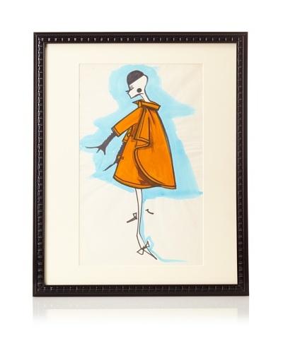 """Michel Goma Fashion Sketch, 21.5"""" x 17.5"""""""