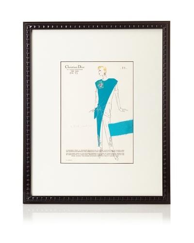 """Christian Dior Fashion Sketch, 21.5"""" x 17.5"""""""
