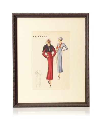 """Creations de Paris Fashion Plate, 21.5"""" x 17.5"""""""