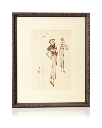 Creations de Paris Fashion Plate, 21.5 x 17.5