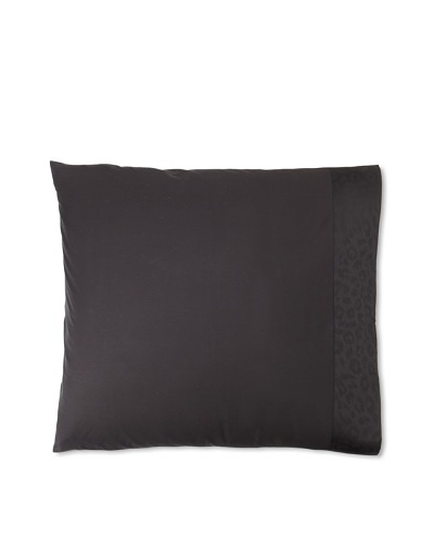 Edmond Frette Eliza Bordo Jacquard Pillow Sham, Black, Euro