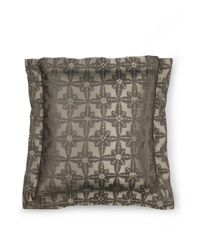 Frette Luxury Edmond Anouk Euro Sham, Anthracite Grey, 26 x 26