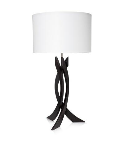 Nova Lighting Trensa Table Lamp, Dark Brown/Silver/White