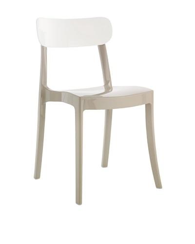 Domitalia New Retro Chair, Taupe/White