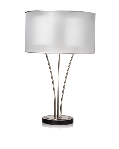 Nova Lighting Teton Table Lamp, Silver/White