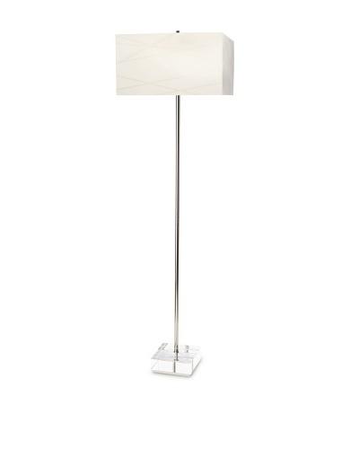 Nova Lighting Criss Cross Floor Lamp, Silver/White