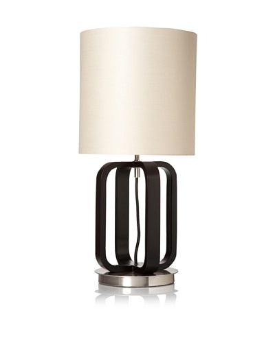 Nova Lighting Cruz Table Lamp, Dark Brown/Silver/Tan