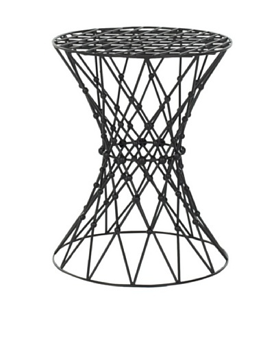 Safavieh Home Collection Clive Steelworks Iron Wire Stool, Black Matte