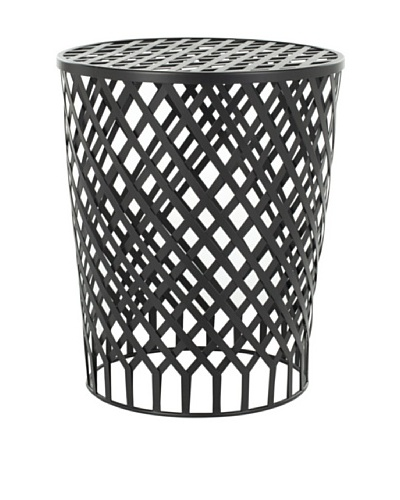 Safavieh Home Collection Nolan Steelworks Iron Stool, Black