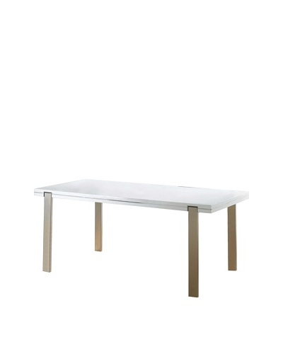 Furniture Contempo Extra Dining Table, White