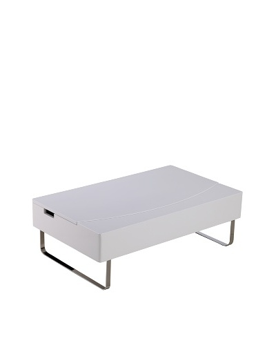 Furniture Contempo Bay Storage Coffee Table, White