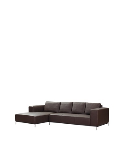 Furniture Contempo Dana Left Sectional Chaise, Chocolate
