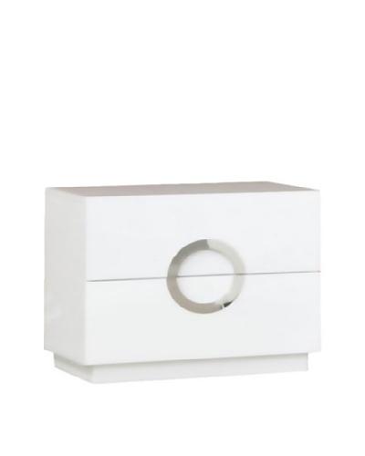 Furniture Contempo Eddy Nightstand, White, Small