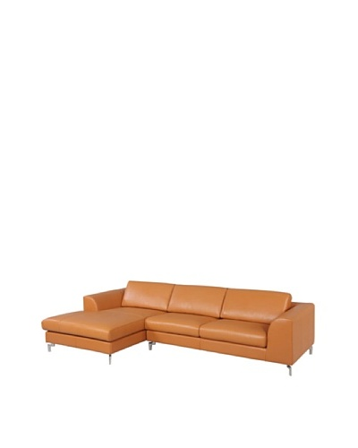 Furniture Contempo Angela Sectional with Right-Handed Chaise, Camel