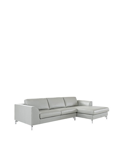 Furniture Contempo Angela Sectional with Left-Handed Chaise, Grey