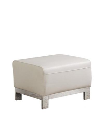 Furniture Contempo Erika Ottoman, White