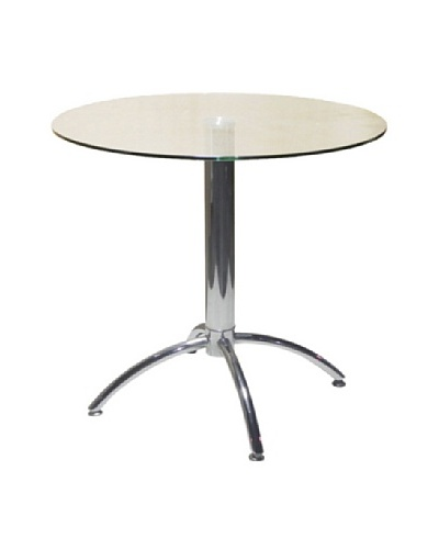 Furniture Contempo Betty Dining Table, Silver