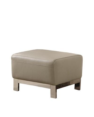 Furniture Contempo Erika Ottoman, Grey