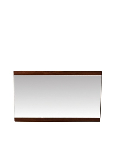 Furniture Contempo Anna Mirror, Walnut Veneer
