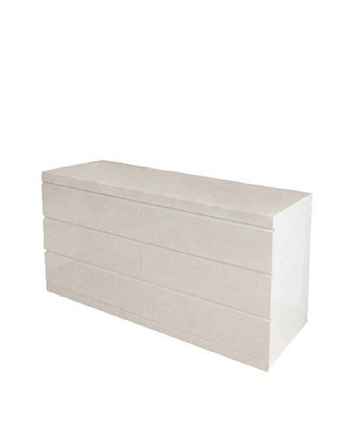 Furniture Contempo Anna Double Dresser, High Gloss White