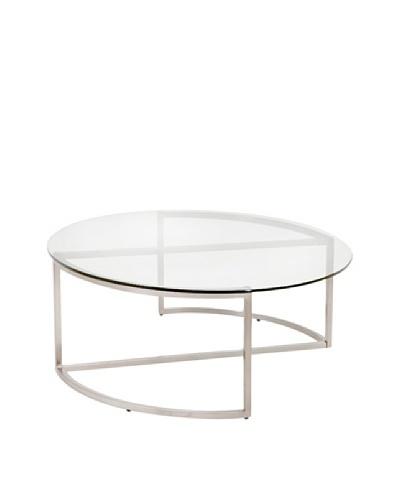 Furniture Contempo Doug Coffee Table, Silver